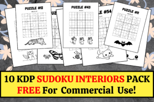 Print on Demand: 10 KDP Sudoku Interiors Pack + Solutions Graphic KDP Interiors By KDP Mastermind