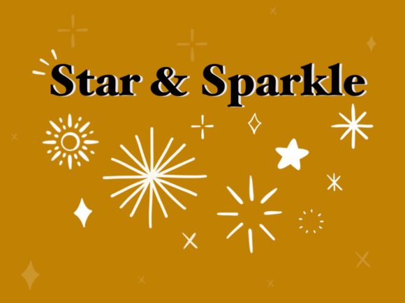 12 Star and Sparkle Procreate Stamps Graphic Brushes By secondjul