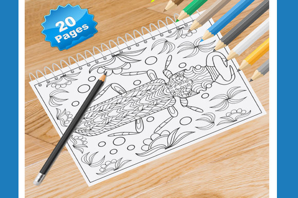 20 Bug and Insects Coloring Pages Graphic Coloring Pages & Books By Coloring World