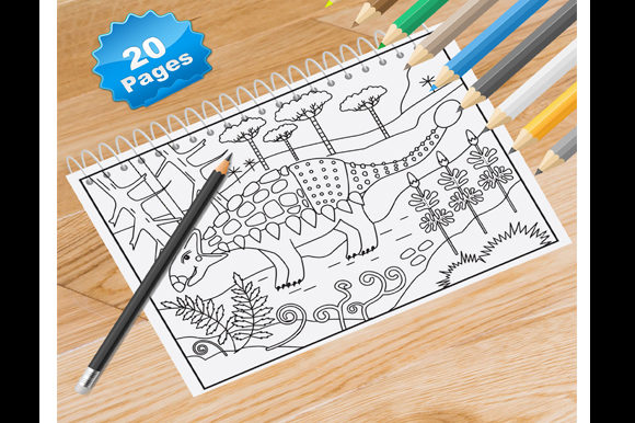 20 Dinosaur Coloring Pages Graphic Coloring Pages & Books By Coloring World