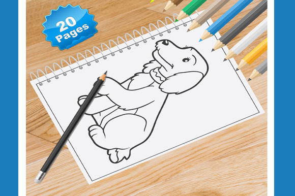 20 Dog Animal Coloring Pages Graphic Coloring Pages & Books By Coloring World