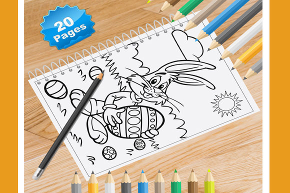 Print on Demand: 20 Easter Coloring Pages Graphic Coloring Pages & Books By Coloring World