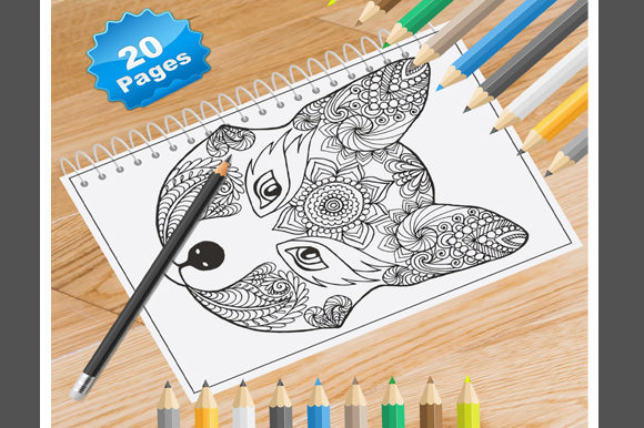 20 Fox Coloring Pages for Adults Graphic Coloring Pages & Books Adults By Coloring World - Image 1