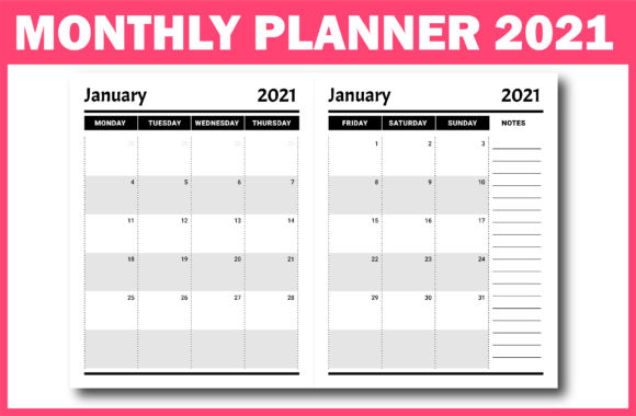 Print on Demand: 2021 Planner with Dates Ready for KDP Graphic KDP Interiors By Fayne - Image 2