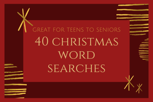 40 Christmas Word Searches Graphic KDP Interiors By Dotcity
