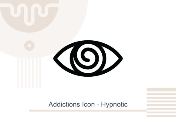 Addictions Icon - Hypnotic Graphic Icons By MelindAgency