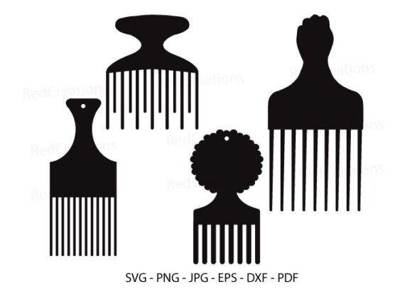 Afro Combs First Graphic Crafts By RedCreations