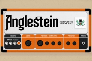 Print on Demand: Anglestein Display Font By zealab fonts division