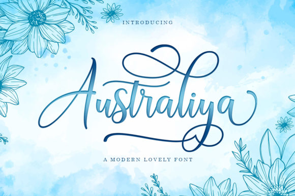 Print on Demand: Australiya Script & Handwritten Font By Black Studio