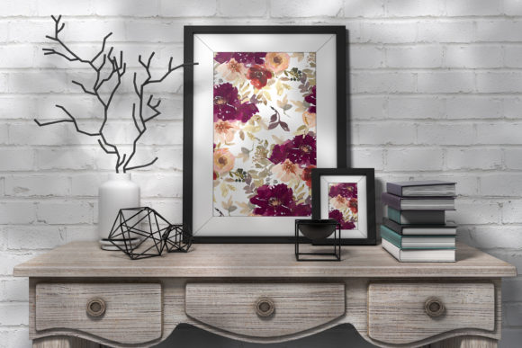 Autumn Watercolor Floral Clipart Collection Graphic Graphic