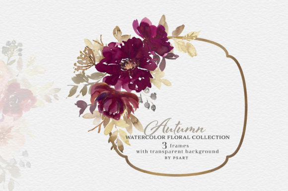 Autumn Watercolor Floral Clipart Collection Graphic Preview