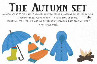 Autumn/Fall Set Graphic Illustrations By My Little Black Heart