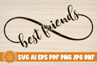 Print on Demand: Best Friends Infinity Symbol Grafik Plotterdateien von VectorCreationStudio
