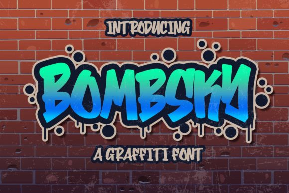 Print on Demand: Bombsky Display Font By Blankids Studio