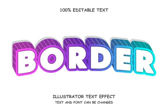 Border - Text Effect Graphic Add-ons By 4gladiator.studio44
