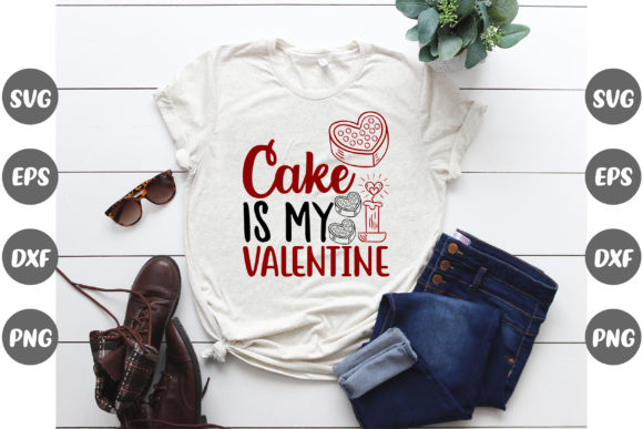 Print on Demand: Cake is My Valentine Graphic Print Templates By Design Store Bd.Net