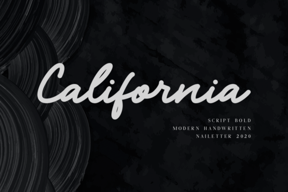 Print on Demand: California Script & Handwritten Font By nailetter