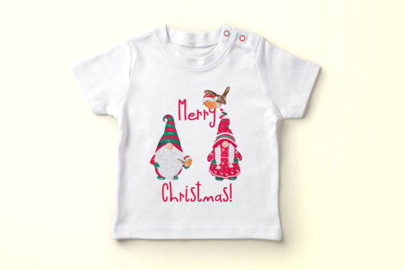 Christmas Gnomes Clipart Graphic Image
