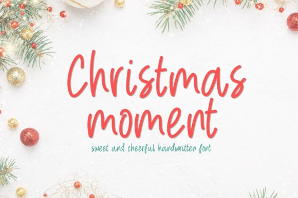 Print on Demand: Christmas Moment Script & Handwritten Font By AllaCreativa