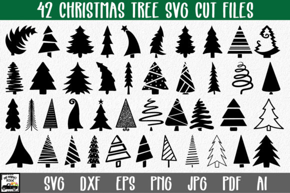 Print on Demand: Christmas Trees Graphic Crafts By oldmarketdesigns