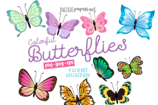 Print on Demand: Colorful Butterflies Graphic Illustrations By DigitalPapers