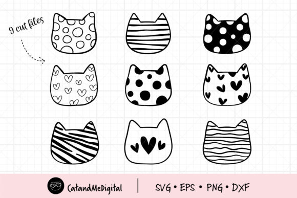 Cute Cat Graphic Illustrations By CatAndMe