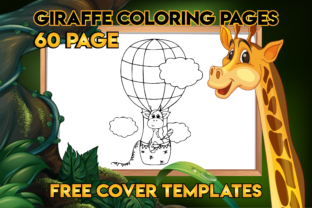 Print on Demand: Cute Giraffe Coloring Pages for Kids Graphic Coloring Pages & Books Kids By Fox Design Studio