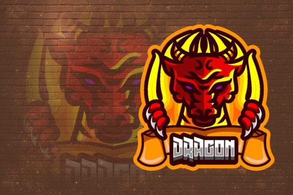 Dragon Flame E-Sport Logo Graphic Graphic Logos By remarena