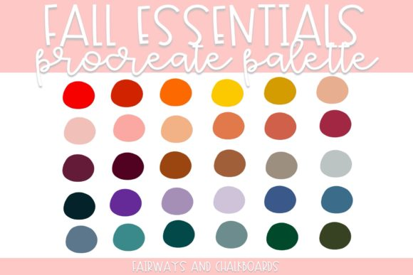 Print on Demand: Fall Essentials Procreate Palette Graphic Actions & Presets By Fairways and Chalkboards