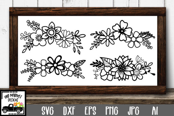 Print on Demand: Floral Bouquets Graphic Crafts By oldmarketdesigns