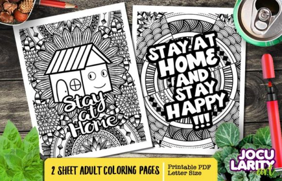 Print on Demand: Funny Stay at Home Aduly Coloring Pages Graphic Coloring Pages & Books Adults By JocularityArt