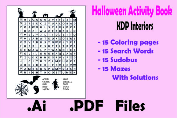 Halloween Activity Book : 60 Game Pages Graphic KDP Interiors By KDP_Interior_101 - Image 3