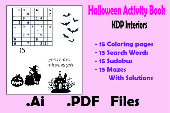 Halloween Activity Book : 60 Game Pages Graphic KDP Interiors By KDP_Interior_101 - Image 5