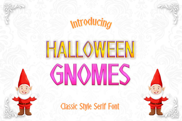 Print on Demand: Halloween Gnomes Serif Font By numnim