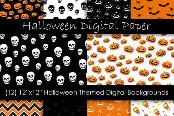 Halloween Patterns and Backgrounds Graphic Patterns By GJSArt