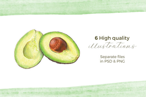 Hand Painted Guacamole Ingredients Graphic Illustrations By Miriam Figueras Illustration