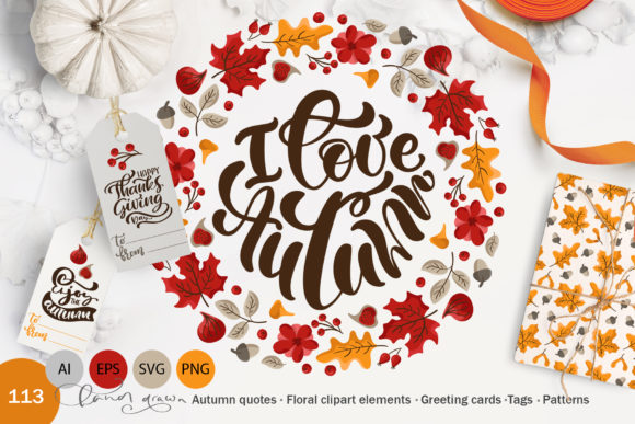 I Love Autumn Graphic Objects By Happy Letters