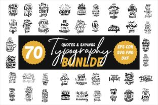 Print on Demand: Inspirational Quotes Bundle 70 Designs Graphic Illustrations By Universtock