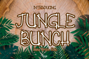 Print on Demand: Jungle Bunch Display Font By boogaletter