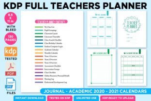 Print on Demand: KDP Full Premium Teacher Planner 2021 Grafik KPD Innenseiten von Queen Dreams Store