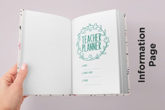 Print on Demand: KDP Full Premium Teacher Planner 2021 Graphic KDP Interiors By Queen Dreams Store - Image 5