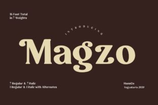 Print on Demand: Magzo Display Font By HansCo