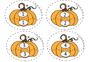 Matching Numbers 1-20 (Fall Themed) Graphic PreK By lifeandhomeschooling
