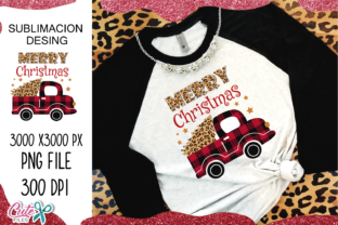 Merry Christmas Truck  Sublimation Graphic Crafts By Cute files