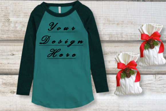 Mockup Green Shirt, Gift Bags Graphic Product Mockups By MockupsByGaby