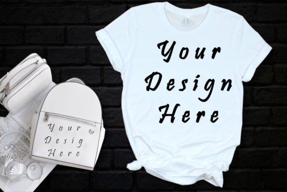 Mockup White Bella Canvas Tshirt Graphic Product Mockups By MockupsByGaby
