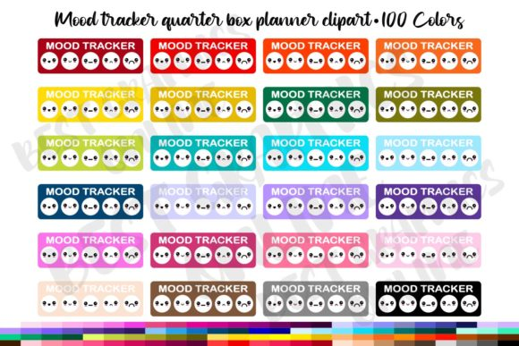 Mood Tracker Planner Stickers Clipart Graphic Print Templates By bestgraphicsonline