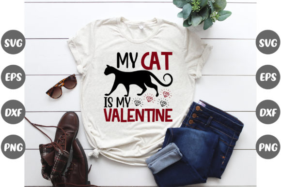 Print on Demand: My Cat is My Valentine Graphic Print Templates By Design Store Bd.Net