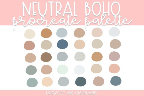 Print on Demand: Neutral Boho Procreate Palette Graphic Actions & Presets By Fairways and Chalkboards