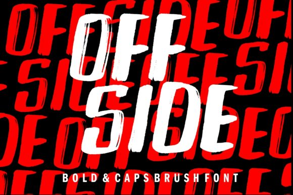 Print on Demand: Off Side Display Font By HansCo